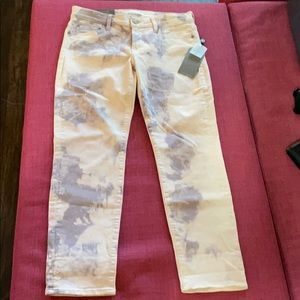 7 For All Mankind Cropped Roxanne Jeans Acid Wash